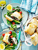 Lamb, fetta and spinach parcels