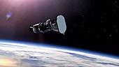 Parker Solar Probe third stage firing, animation
