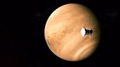 Parker Solar Probe fly-by of Venus, animation