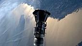 Parker Solar Probe third stage separation, animation