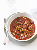 Mediterranean Pork Belly and Chorizo Stew