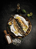 Mackerel with mustard and lemons