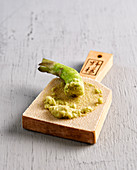 Wasabi on a wooden board