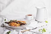 Pikante Pfannkuchen mit Feta und Spinat