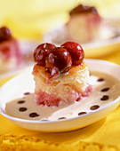 A mini cherry cake