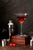 Klassischer Manhattan Cocktail