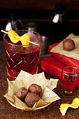 Negroni Truffles made with Campari