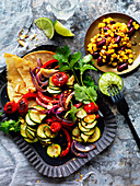 Vegetables Taco Plate