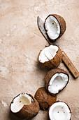 Sliced Fresh Coconut
