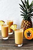 Healthy tropical fruit smoothie