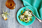 Fennel salad with herbs andItalian style salsa verde