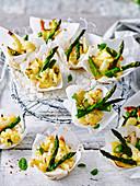 Cauliflower, Quinoa and Asparagus Bites