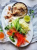 Warm Brown Rice and Tuna Salad