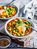 Spiced Chickpea and Broad Bean Soup