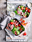 Roast Beef and Watercress Salad