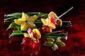 Exotic fruit skewers