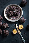 Vegan pumpkin and chocolate bites