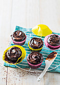 Kidney bean chocolate muffins with avocado frosting