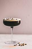 Black-and-white coffee martini
