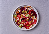 Beetroot, fennel, grapefruit and smoked chicken salad