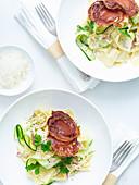 Creamy Zucchini Pappardelle