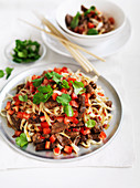 Thai Spicy Beef and Noodle Stir-Fry
