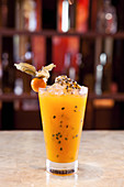 Virgin Physalis and Passion Fruit Mocktail