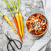 A colourful carrot salad