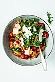 Pasta in a creamy tomato sauce