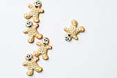 Skeleton biscuits for Halloween