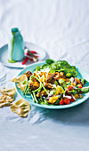 Colourful lamb salad