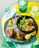Noodle salad with ginger and chilli kofta