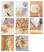 Angelica salata (Pikanter Hefekuchen mit Schinken und Käse, Italien) backen
