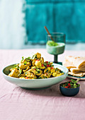 Hähnchen-Blumenkohl-Curry aus dem Ofen