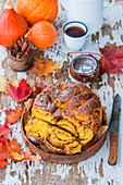 Pumpkin babka with cinnamon