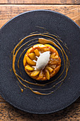 Apple tarte tatin with vanilla ice cream