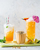 Refreshing 'melonade', Melon and stone fruit smoothie, Melon and chilli margarita