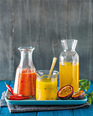 Passion fruit hot sauce, Orange and passion fruit dressing, Passion fruit syrup