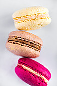 Different flavored macaroons
