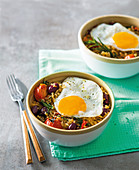 Mediterranean fried rice with eggs