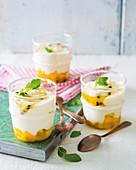 Mango and granadilla frozen yoghurt