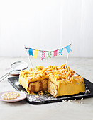 'Poke cake' - pocket cake with caramel