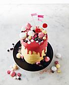 Crazy drip cake