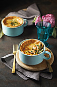 Roast chicken and mushroom pies