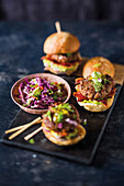 Mini-tex-mex sliders with bacon and jalapenos