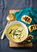 Irish beer, cheddar and potato soup