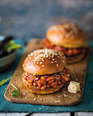 Sloppy Joes with baked beans