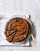 Genoise with choc-yoghurt frosting