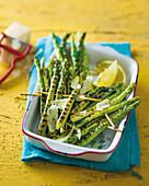 Grilled asparagus skewers