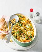 Boiled egg gratin